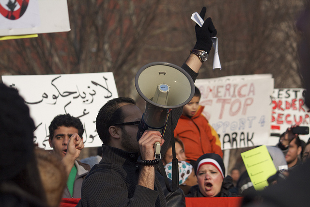 Egypt protest in Washington, D.C.