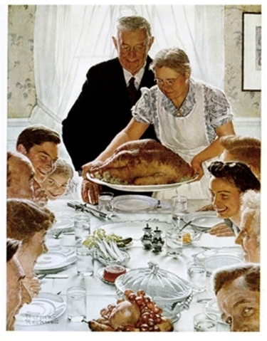 "Norman Rockwell ""Freedom from Want"""